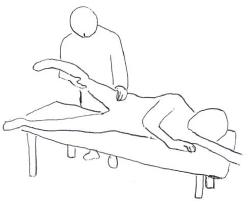 股関節内転による内側広筋の収縮1