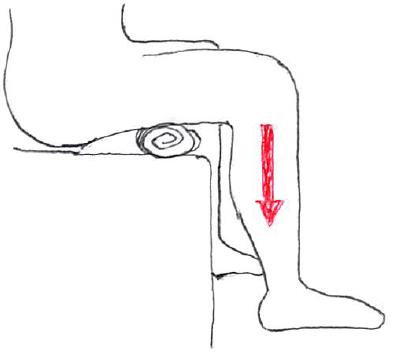 膝関節牽引モビライゼーション