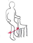 高齢者の股関節屈曲筋力増強