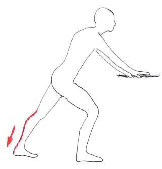 腓腹筋ストレッチ1