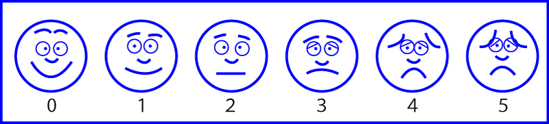 face pain rating scale,face scale,疼痛評価