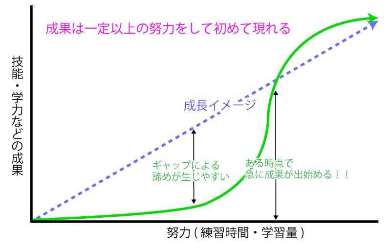 【成長曲線】努力量と結果は一致しない